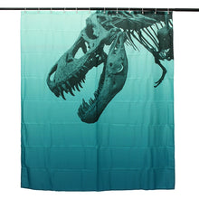 Fossil T-Rex Dinosaur Shower Curtain - Dinosaur Themed Gifts & Accessories