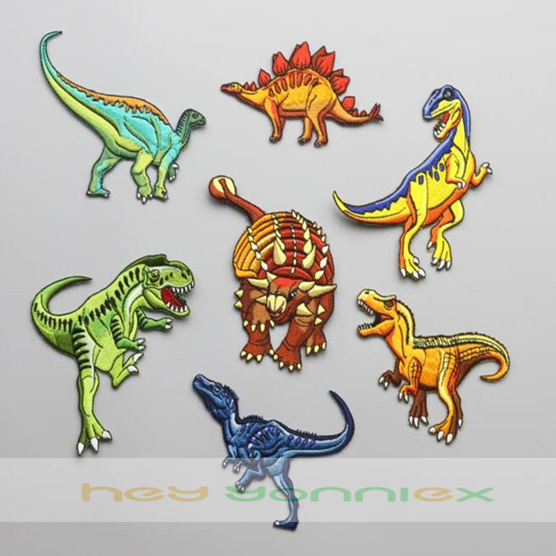 Dinosaur Iron-On Patches - DinoGoods
