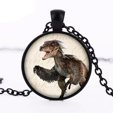 Feathered Raptor Pendant Necklace - Dinosaur Gifts & Accessories