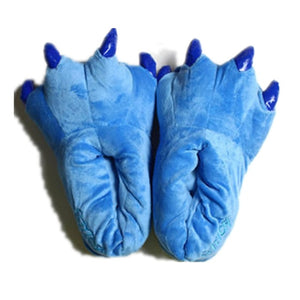 Kids Dinosaur Fluffy Claw Slippers