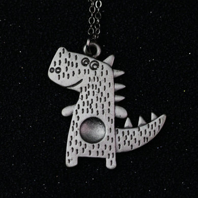 Smiley T-Rex Necklace - Dinosaur Gifts & Accessories