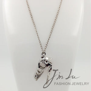 Fossilized T-Rex Skull Necklace - Dinosaur Gifts & Accessories