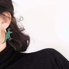 Sparkly Dinosaur T-Rex Earrings - Dinosaur Themed Gifts & Accessories