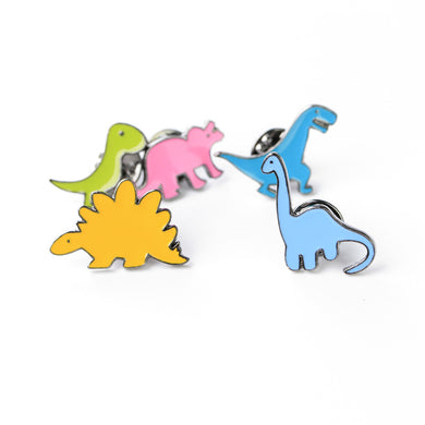 Stylish Brooch Dinosaurs (Set of 5) - Dinosaur Gifts & Accessories
