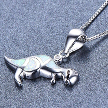 Ice Ice Dino Fire Opal Pendant - Dinosaur Themed Gifts & Accessories