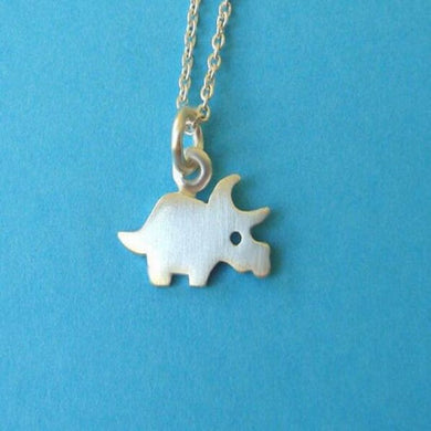 Cute Triceratops Necklace - Dinosaur Jewelry & Accessories