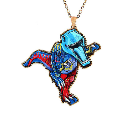 Punk T-Rex Necklace - Dinosaur Themed Gifts & Accessories
