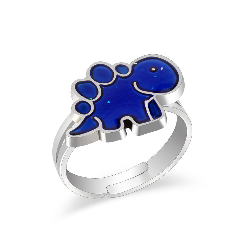 Bluebasaur Dinosaur Mood Ring - DinoGoods