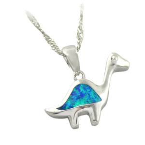 Precious Fire Opal Dinosaur Necklace - Dinosaur Themed Gifts & Accessories