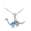 Fire Opal Brachiosaurus Necklace - DinoGoods