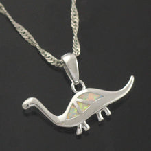 Fire Opal Brachiosaurus Necklace - Dinosaur Themed Gifts & Accessories