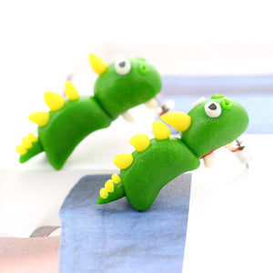Cute Chomping Dinosaur Stud Earrings - Dinosaur Themed Gifts & Accessories