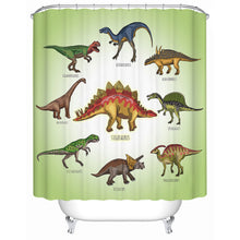 Learn Your Dinosaur Shower Curtain For Kids - Dinosaur Themed Gifts & Accessories