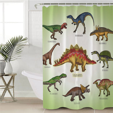 Learn Your Dinosaur Shower Curtain For Kids - Dinosaur Gifts & Accessories