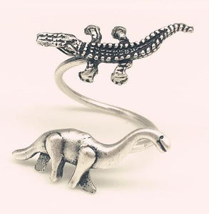 Old and New Brachiosaurus Ring - Dinosaur Themed Gifts & Accessories