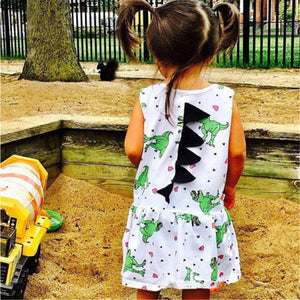 Girls Spiked Dinosaur Dress - Dinosaur Themed Gifts & Accessories