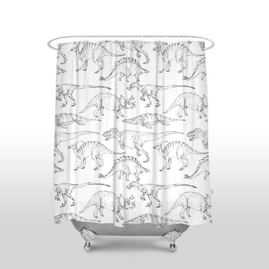 Jurassic Dinosaur Shower Curtain - Dinosaur Themed Gifts & Accessories