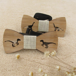 Kids Wooden Dinosaur Bow Tie - Dinosaur Themed Gifts & Accessories