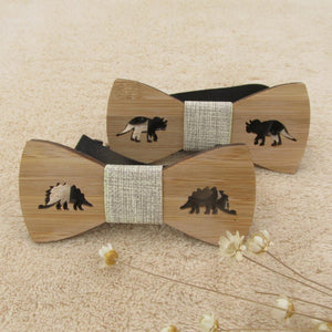 Kids Wooden Dinosaur Bow Tie - Dinosaur Gifts & Accessories