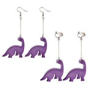 Purple Dinosaur Earrings - Dinosaur Themed Gifts & Accessories