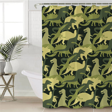 Camouflage Dinosaur Shower Curtain - Dinosaur Themed Gifts & Accessories