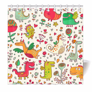 Cute Dinosaur Shower Curtain - Dinosaur Themed Gifts & Accessories