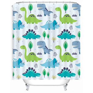 Walking Jurassic Dinosaur Shower Curtain - Dinosaur Themed Gifts & Accessories