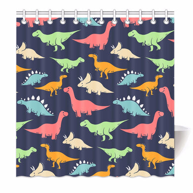Cartoon Dinosaur Pattern Shower Curtains - Dinosaur Gifts & Accessories