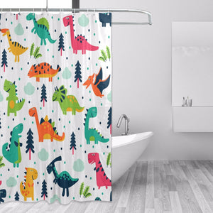 Ordinaire Silly Decorative Cartoon Dinosaurs Shower Curtains