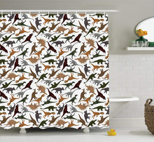 Jurassic Shower Curtain Pattern With Dinosaurs - Dinosaur Gifts & Accessories