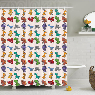 Goofy Dinosaur Shower Curtain (for Kids) - Dinosaur Themed Gifts & Accessories