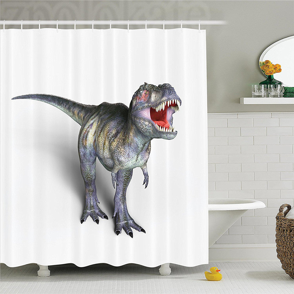 Jurassic T-Rex Dinosaur Shower Curtain - Dinosaur Themed Gifts & Accessories