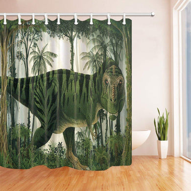 Fierce T-Rex Shower Curtain - Dinosaur Themed Gifts & Accessories