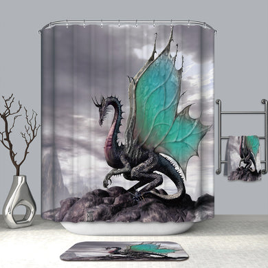 Dragon Splendor Shower Curtain - Dinosaur Themed Gifts & Accessories