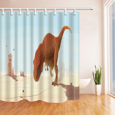 Jurassic Landscape Shower Curtain - Dinosaur Themed Gifts & Accessories
