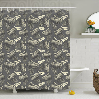 Roaring Jurassic Dinosaur Shower Curtain - Dinosaur Themed Gifts & Accessories
