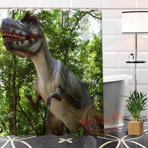Jurassic Life Shower Curtains - Dinosaur Gifts & Accessories