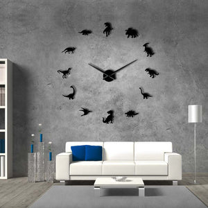 Jurassic Dinosaur Sticker DIY Wall Clock - DinoGoods