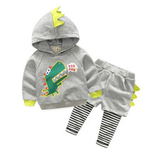Toddler Boy Spiked Dinosaur Sweatshirt and Sweatpants - Dinosaur Themed Gifts & Accessories