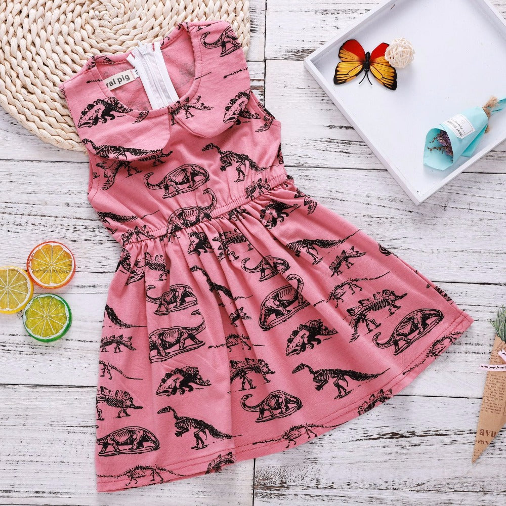 Girls Toddler Dinosaur Party Dress - DinoGoods
