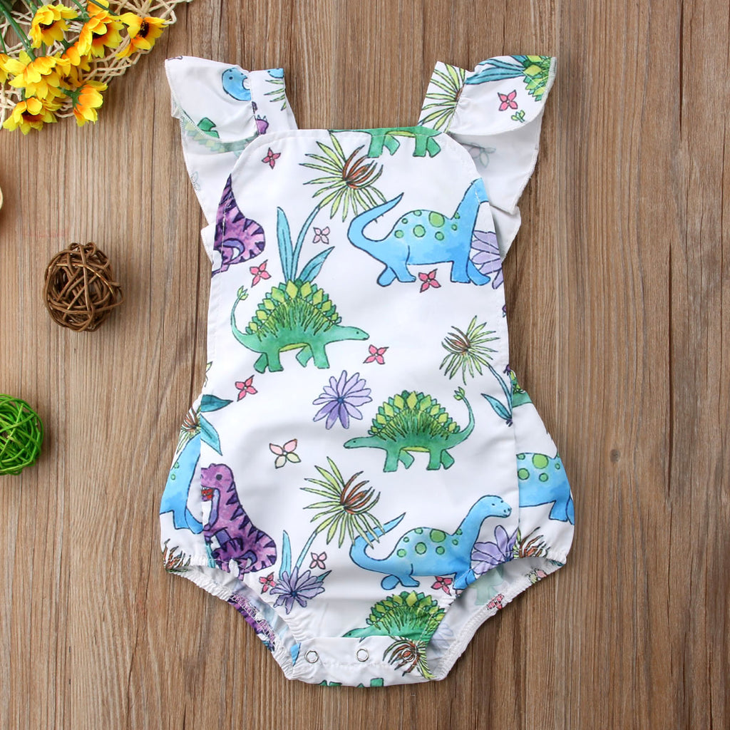 Colorful Dino Infant Romper