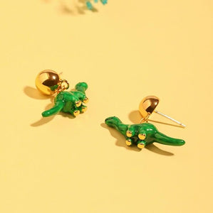 Pearl Dinosaur Earrings