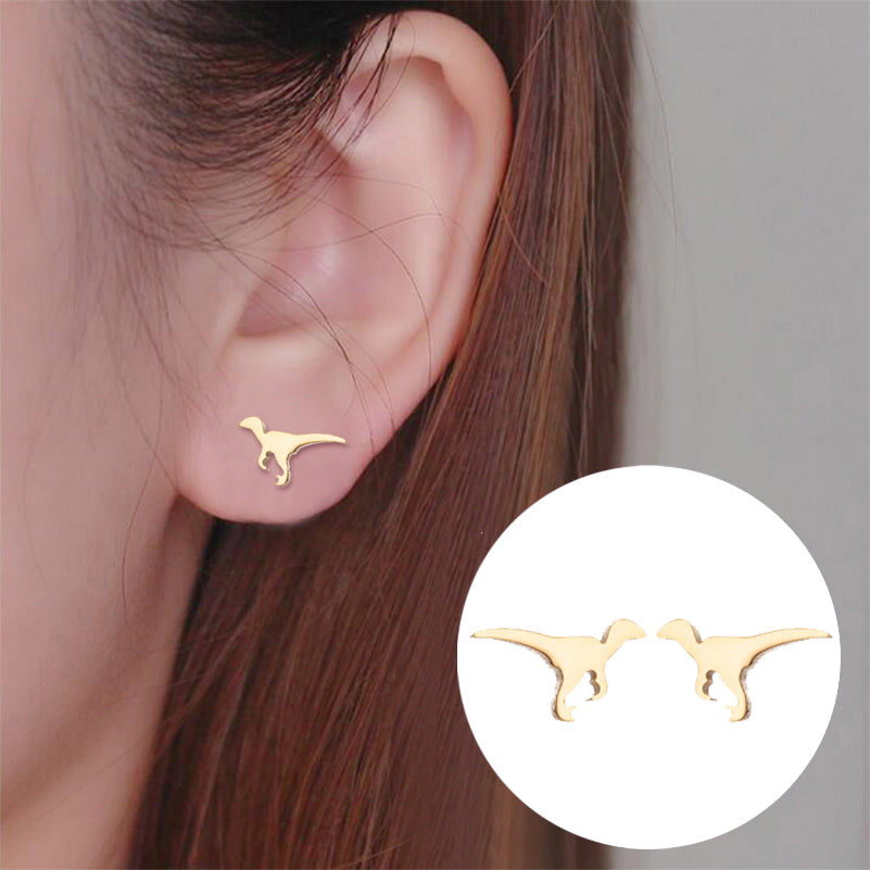 Velociraptor Ultimate Hunter Stud Earrings - DinoGoods