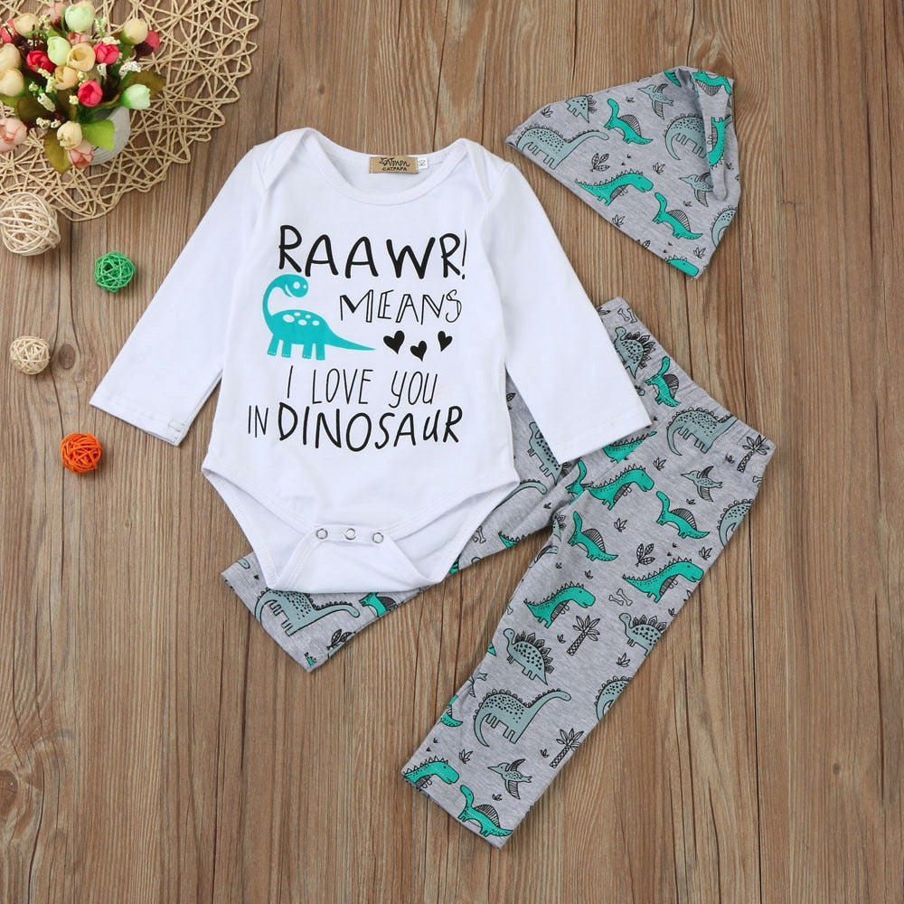 Rawr Dinosaur Infant Outfit - DinoGoods