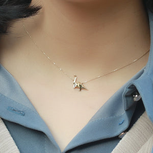 Gold Origami Brachiosaurus Necklace