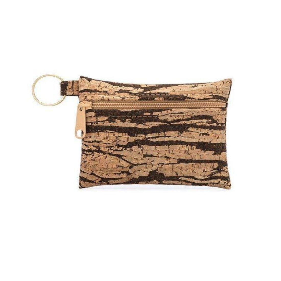 Cork Key Chain Zip Pouch
