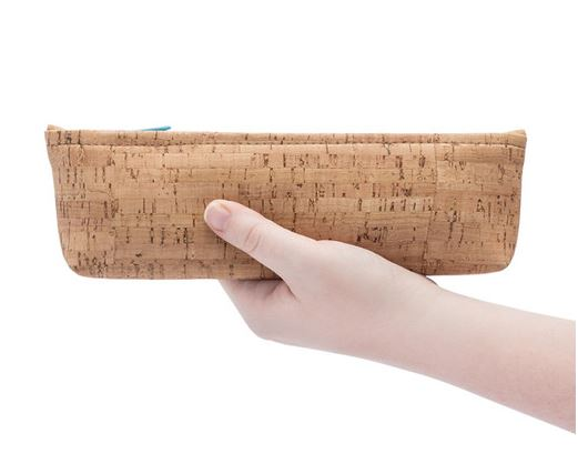 Cork Pencil Case | Wine Floral