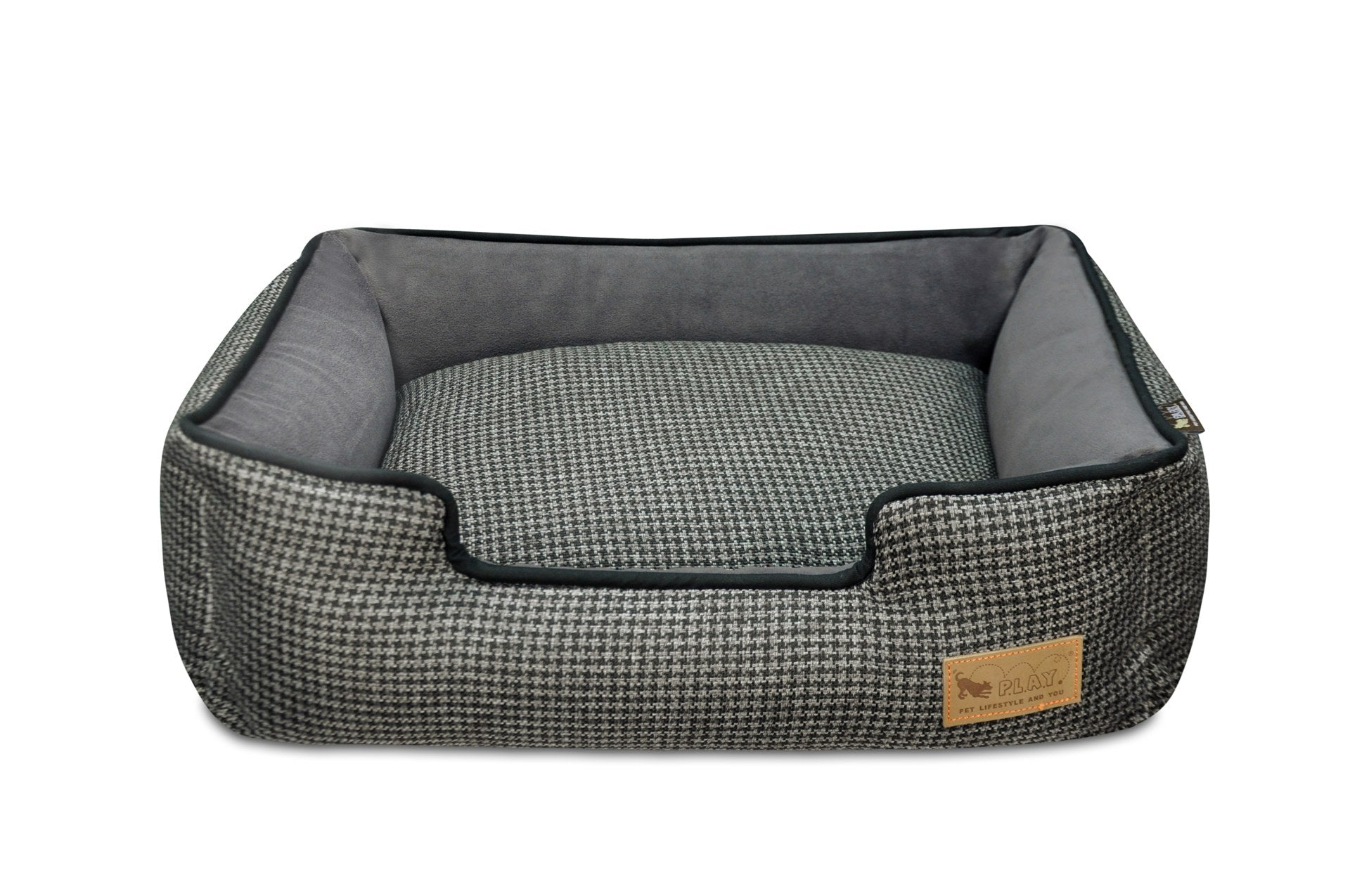 Houndstooth Lounge Bed - Multiple Colors