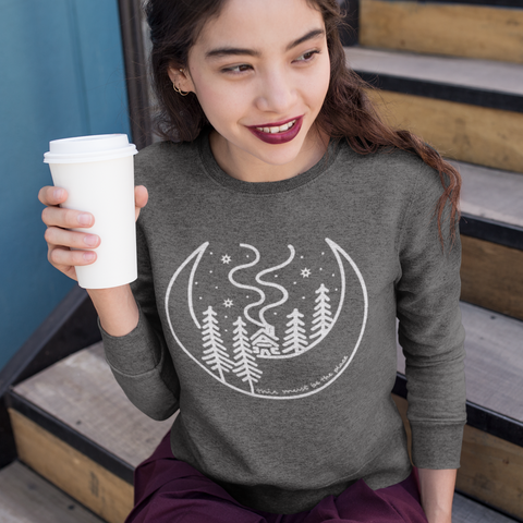 Cabin in the Woods Eco Fleece Raglan Sweatshirt