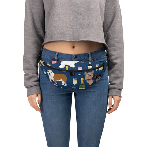 Dogs & Wine Fanny Pack